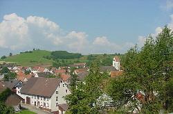 Blick vom Bahnhof